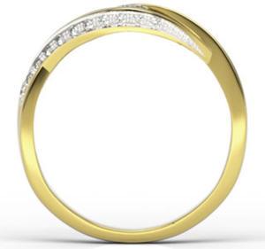 Pierścionek z żółtego złota z brylantami LP-60Z - 2824314699