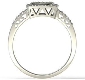 Pierścionek z białego złota z brylantami LP-64B - 2824314700