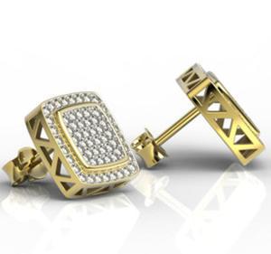 Kolczyki z żółtego złota z brylantami LPK-64Z-R - 2824314703