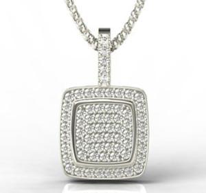 Wisiorek z białego złota z brylantami LPW-64B - 2824314704