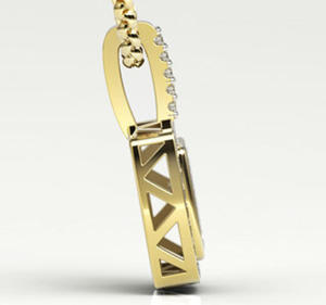 Wisiorek z żółtego złota z cyrkoniami LPW-64Z-R-C - 2824314711