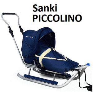 Metalowe sanki dziecięce Piccolino Metalowe sanki Piccolino Adbor z oparciem - 2873326986