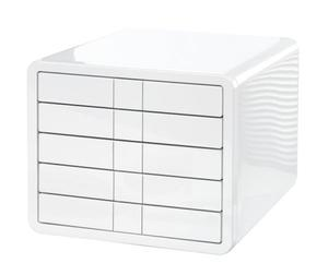 Zestaw 5 szuflad ABS A4 HAN iBOX Biały - 2875375486