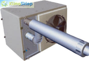 System kominowy / zestaw współosiowy poziomy do ApenGroup (80mm) - 2837456254