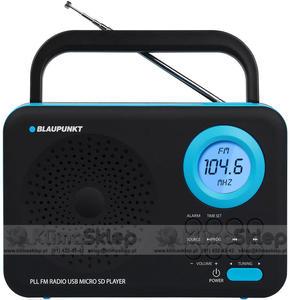 Przenośny radioodtwarzacz Blaupunkt PP12BK - SD / USB / AUX / ZEGAR / ALARM - 2846459026