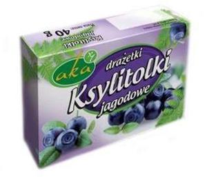 """Drażetki pudrowe """"Ksylitolki"""" jagodowe - 40g - Aka - 2833520549"""