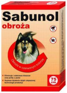 Sabunol Obroża 75cm Czerwona 75cm - 2498297048