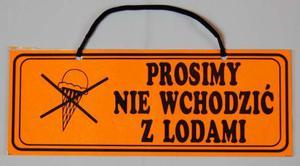 """TABLICA INFORMACYJNA - ''PROSIMY NIE WCHODZIĆ Z LODAMI"""" - 2822287283"""