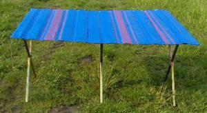 Składany stół do handlu, wzmocniony, długość ok.1,5m + szeroki blat - 2822286229