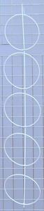 Panel pojedynczy na czapki 5 elementów biały - na kratę - 2822287546