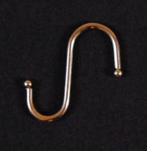 Komplet (10szt.) metalowych haczyków ,,S'' 5,5x5,5cm - chromowane - 2822286578