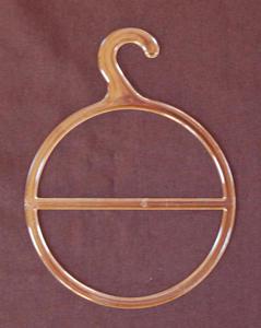 Komplet (10szt.) przezroczystych, okrągłych wieszaków do prezentacji apaszek, szalików itp. - 2839013667