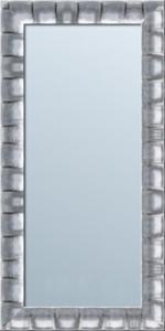 Lustro z srebrną ramą drewnianą w stylu glamour-różne wymiary - 2826399789