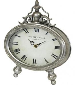 Cudowny, stylowy zegar na komodę, biurko-srebrny postarzany - 2826399797