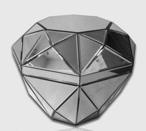 Oryginalny stolik lustrzany 55x55x47 - 2826399804