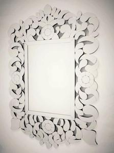 Finezyjne lustro z dekoracyjną ramą lustrzaną 80x120 - 2834107353