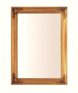 Prostokątne lustro w złotej stylowej ramie 74x104 - 2834107356