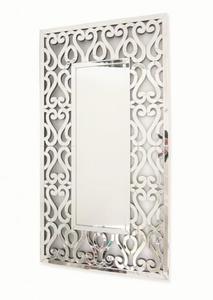 Prostokątne lustro z dekoracyjną ramą lustrzaną 90x170 - 2834107357