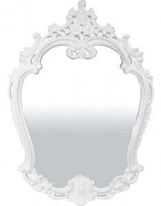 Białe lustro w barokowej ramie 80x113 - 2834107358