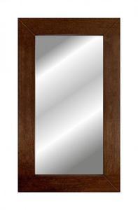 Klasyczne lustro w szerokiej dębowej ramie - 2826399343