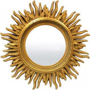 Designerskie lustro w kształcie słońca - 2826399402