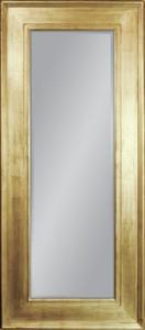 Duże lustro w drewnianej ramie pokrytej płatkami złota 180x80 - 2826399418