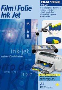 Folia Star Coating IJFWG-SA biała błyszcząca samoprzylepna do drukarek atramentowych 10ark A4 - 2824443288