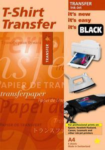 Naprasowanki Papier transferowy Star Coating TIJ 2010 na ciemne i czarne tkaniny 1-10ark A4 - 2824443293