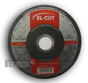 Tarcza do cięcia T41 125/1,0/22,2 A 60R BF-80 Metal-Inox EL-CUT - DARMOWY ODBIÓR W ŚWIDNICY! - 2825525793
