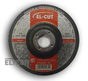 Tarcza do szlifowania T27 125/6,0/22,2 A 30Q BF-80 Metal EL-CUT - DARMOWY ODBIÓR W ŚWIDNICY! - 2825525794