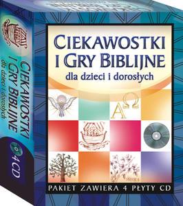 4xCD PAKIET CIEKAWOSTKI I GRY BIBLIJNE dla dzieci i dorosłych - 2832212035