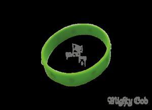 OPASKA RÓŻANIEC SILIKONOWY - zielony - 2832213239