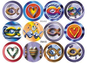 Zestaw naklejek okrągłych (FO-012) - 2832213250