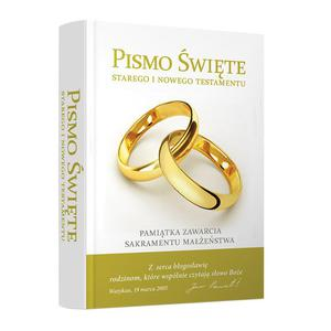 Biblia domowa z obwolutą Pamiątka Sakramentu Małżeństwa