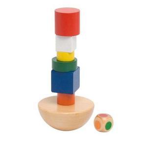Balansująca wieża, zestaw klocków do ćwiczeń manulanych - 2843309012