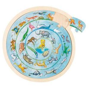Parada zwierząt, układanka puzzle, Goki - 2843309013
