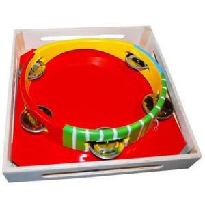 Tamburyno drewniane - instrument muzyczny - 2832214554