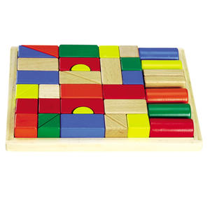 Klocki drewniane kolorowe 31 szt - 2832214557