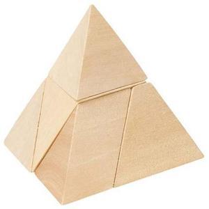 Drewniany trójkąt, układanka logiczna - 2843309092