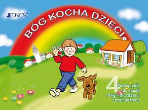 4-latki Bóg kocha dzieci Podręcznik do nauki religii - 2832212303