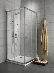 Radaway Premium Plus D 90x100x190cm kabina prostokątna z drzwiami przesuwnymi, szkło przejrzyste. Przesyłka gratis! - 2824325941