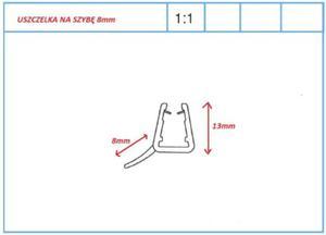Uszczelka płetwa dolna do drzwi prysznicowych lub parawanów na szybę 8mm, L1000mm - 2824326341
