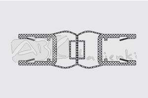 RIHO 562020002 uszczelka magnetyczna na szybę 6mm 180 stopni L2010 - 2824326514
