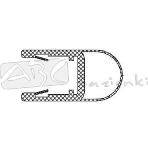 RIHO 562010000 uszczelka szkło/ściana na szybę 8mm L2010 - 2824326515