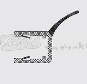 RIHO 562010006 uszczelka pionowa szkło/szkło na szybę 8mm L2010 - 2824326516