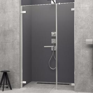 Radaway Arta DWS 130cm drzwi prysznicowe wahadłowe lewe ze ścinką w linii 386828-03-01L+ 386092-03-01L - 2824329265