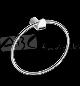 Omnires Saco SA54230 CRB wieszak chrom/biały - 2846790994