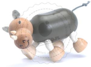 Anamalz - Figurka nosorożca - zabawki drewniane Anamalz - RH2010 - 2828044413