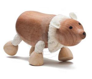 Anamalz - Figurka niedźwiedzia polarnego - zabawki drewniane Anamalz - PO2010 - 2828044603
