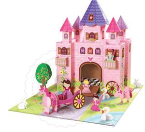 Krooom - ekologiczne zabawki z kartonu - Zamek z Bajki - domki dla lalek z trwałego kartonu Krooom - K219 - 2828044694
